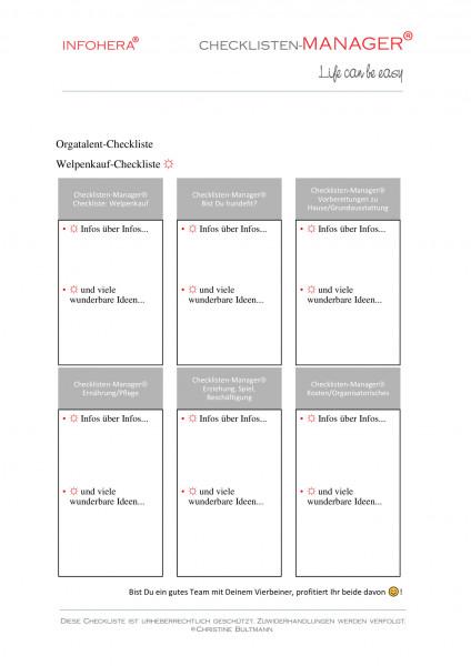 Welpenkauf-Checkliste
