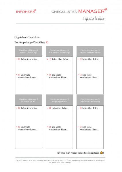 Entrümpelungs-Checkliste