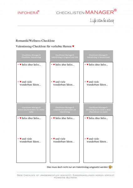 Valentins-Checkliste für verliebte Herren