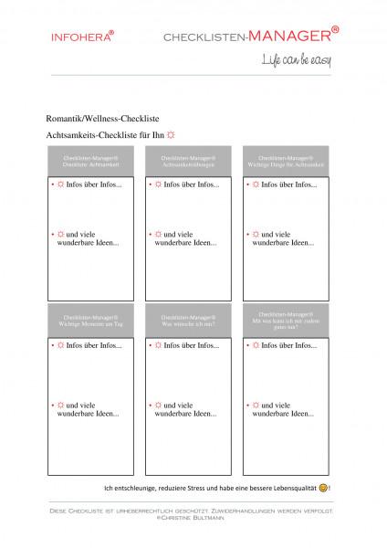 Achtsamkeits-Checkliste für Ihn